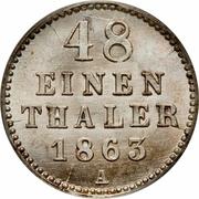 1/48 Thaler - Friedrich Franz II – reverse