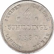 4 Schillinge - Friedrich Franz I – reverse