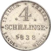 4 Schilling - Paul Friedrich – reverse