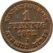 1 Pfennig - Friedrich Franz II. – reverse
