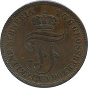 5 Pfennige - Friedrich Franz II. – obverse