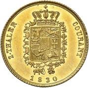 2 Thaler - Friedrich Franz I. – reverse