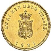 2½ Thaler - Friedrich Franz I. – reverse