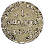 1 Schilling - Paul Friedrich – reverse