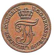 5 Pfennige - Friedrich Franz II – obverse