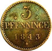 3 Pfenninge - Friedrich Franz II – reverse