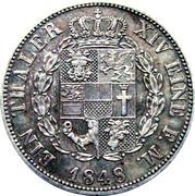 1 Thaler - Friedrich Franz II – reverse