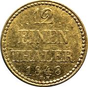 1/12 Thaler - Friedrich Franz II – reverse