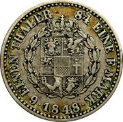 ⅙ Thaler - Friedrich Franz II – reverse
