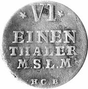 ⅙ Thaler - Adolf Friedrich IV – reverse