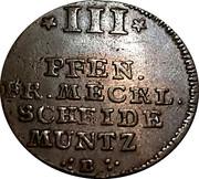 3 Pfennig - Adolph Friedrich IV – reverse