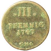 3 Pfennig - Adolf Friedrich II – reverse