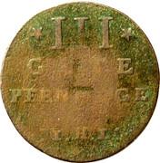 3 Pfennig - Adolf Friedrich III – reverse