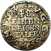 1/48 Thaler - Adolph Friedrich II. – reverse