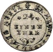 1/24 Thaler - Adolf Friedrich III. – reverse