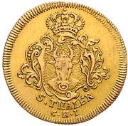 5 Thaler - Adolf Friedrich III – reverse