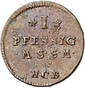 1 Pfennig -  Adolf Friedrich III. – reverse