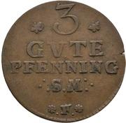 3 Pfennig - Adolph Friedrich IV. – reverse