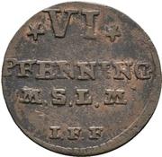 6 Pfennig - Adolph Friedrich IV. – reverse