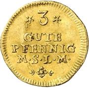3 Gute Pfennig -  Adolf Friedrich III. (Gold pattern strike) – reverse