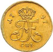 1/24 Thaler - Adolf Friedrich III. (Gold pattern strike) – obverse
