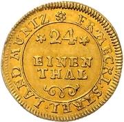 1/24 Thaler - Adolf Friedrich III. (Gold pattern strike) – reverse