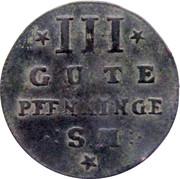 3 Gute Pfenninge - Adolf Friedrich IV – reverse