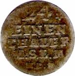 1/24 Thaler - Adolph Friedrich IV – reverse