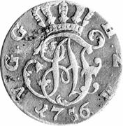 ⅙ Thaler - Adolf Friedrich IV – obverse