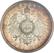 2 Mark - Adolph Friedrich V – reverse