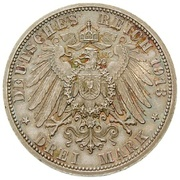 3 Mark - Adolph Friedrich V – reverse
