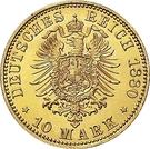 10 Mark - Friedrich Wilhelm – reverse