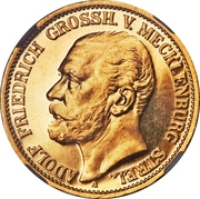 10 Mark - Adolph Friedrich V – obverse