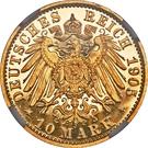 10 Mark - Adolph Friedrich V – reverse