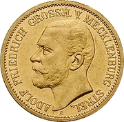 20 Mark - Adolph Friedrich V – obverse