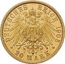 20 Mark - Adolph Friedrich V – reverse
