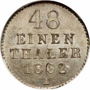 1/48 Thaler - Friedrich Wilhelm – reverse