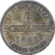 4 Schillinge - Georg – reverse