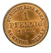 1 Pfennig - Friedrich Wilhelm – reverse