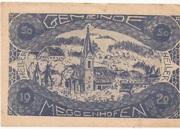 50 Heller (Meggenhofen) – obverse