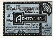 80 Heller (Meggenhofen) – obverse