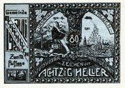 80 Heller (Meggenhofen) – reverse
