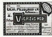 40 Heller (Meggenhofen) – obverse