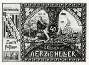 40 Heller (Meggenhofen) – reverse
