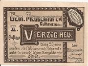 40 Heller (Meggenhofen) -  obverse