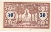 50 Heller (Mehrnbach) -  obverse