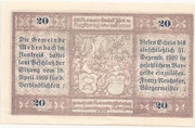 20 Heller (Mehrnbach) -  reverse