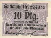 10 Pfennig (Handels- und Gewerbekammer) – obverse