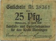 25 Pfennig (Handels- und Gewerbekammer) – obverse