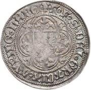 1 Schildgroschen - Friedrich II,  Friedrich IV and Sigismund – reverse